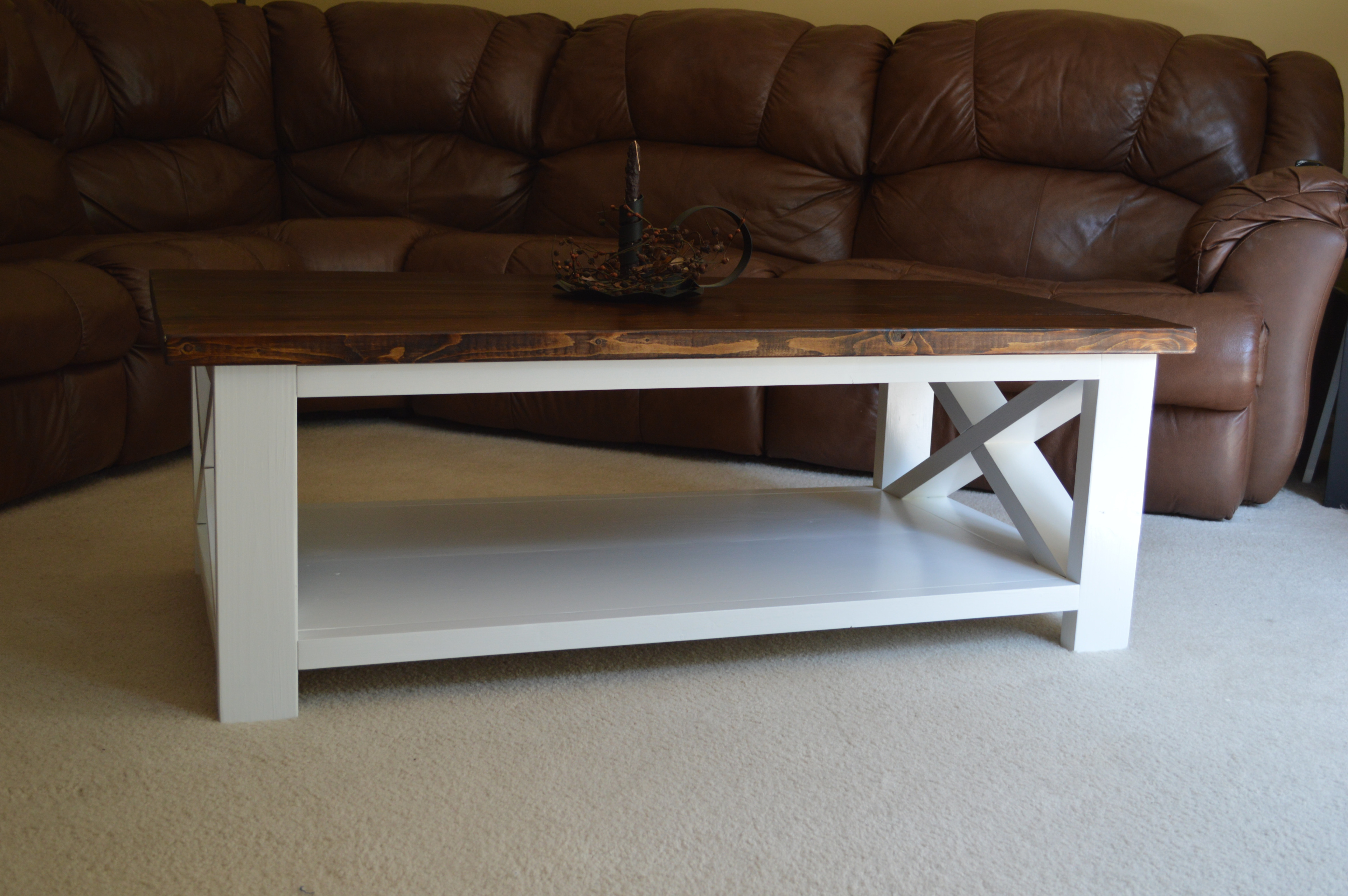 Solid Farmhouse X Style Coffee Table